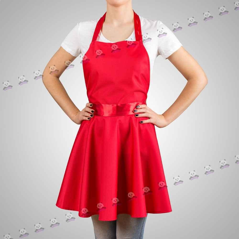 Красный фартук для кухни