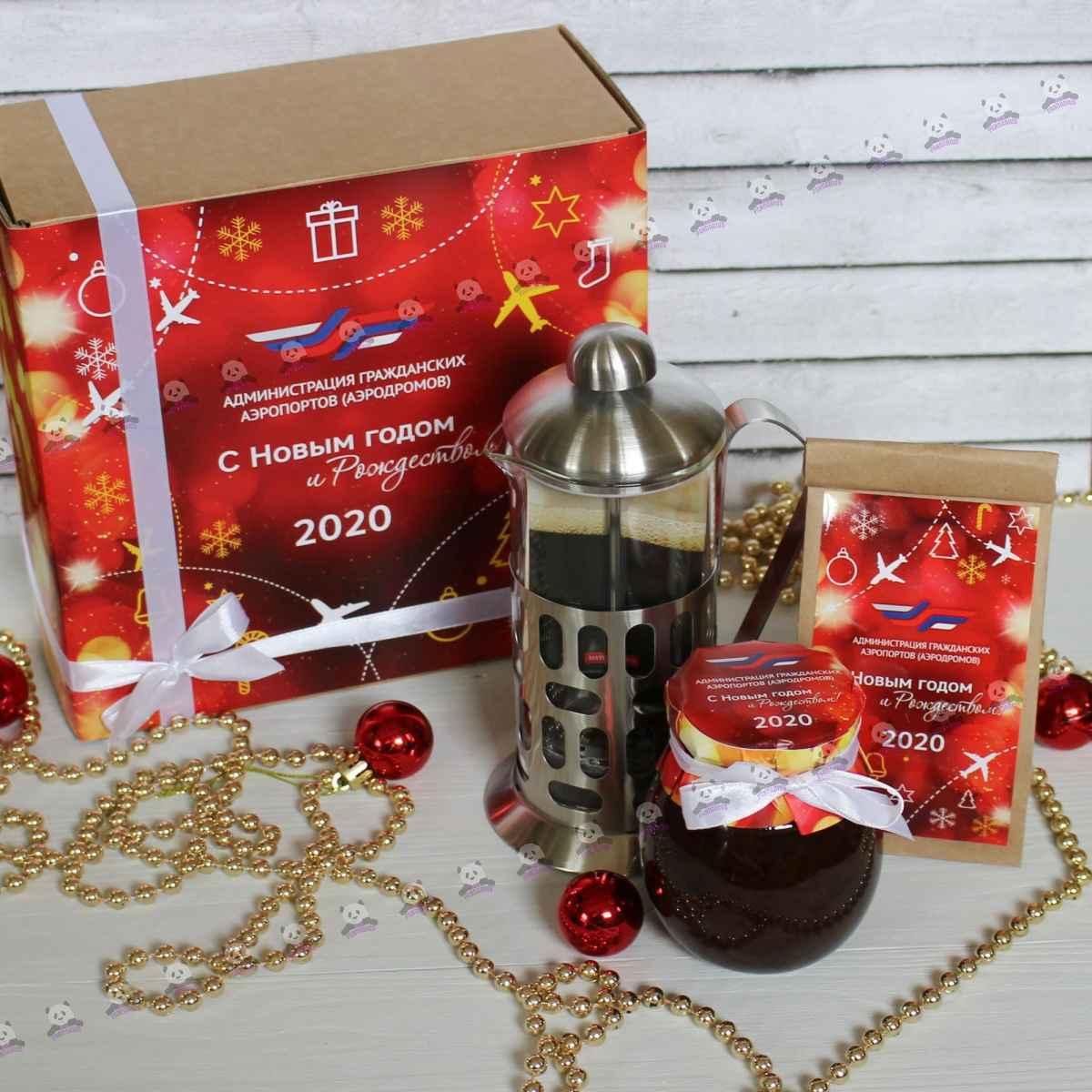 Подарочный новогодний чайный набор 2021
