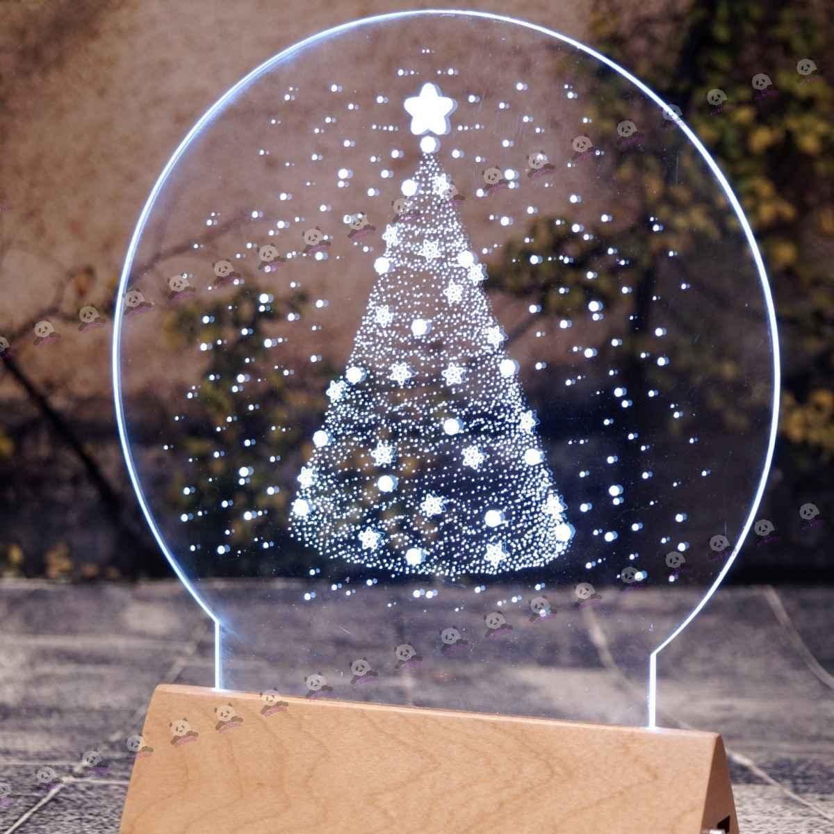 3D светильник ёлочка